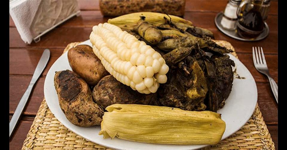 Pachamanca serving